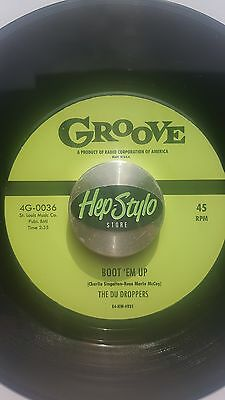 THE DU-DROPPERS RE 45 - BOOT 'EM UP / SPEED KING - FANTASTIC GROOVE 50s JIVERS