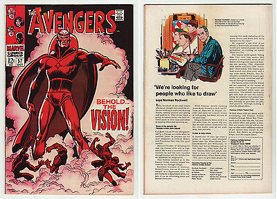 1968 AVENGERS 57 BEAUTIFUL VF/NM BOOK with HIGH GLOSS: 1st APPEARANCE of VISION