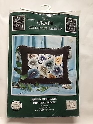 The Craft Collection - Queen of Hearts Cushion Front Long Stitch Kit, Sue Dakin