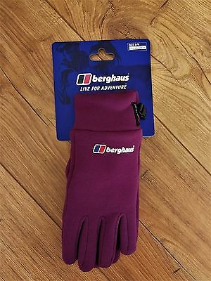 Berghaus Polartec Power Stretch Gloves Purple Size Small/Medium New