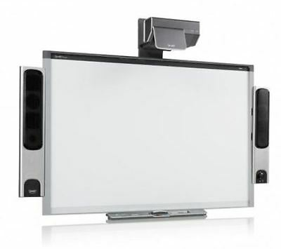 """Sbx885 87"""" Interactive Smart Board And Ux60 Projector Complete Warranty"""
