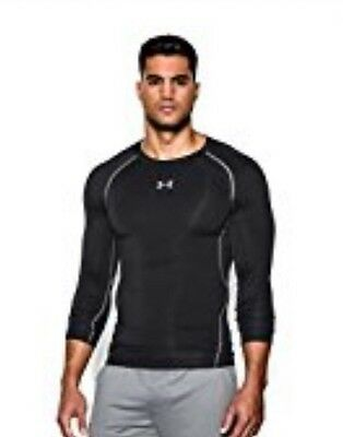 Under Armour Men's Large Long Sleeve Compression Heat Gear Black Shirt