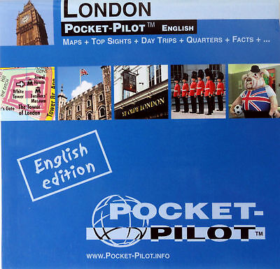 NEW 2008~MAP OF LONDON~PocketPilot,w/TubeMap,Waterproof +Top 20 Sights & History