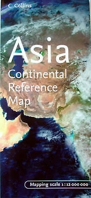 NEW~MAP OF ASIA~Collins, Continental Reference Map +Comprehensive Index