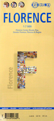 NEW 2007~MAP OF FLORENCE, Italy~ by Borch. w/Top Sights, Index, Bus Routes, Info
