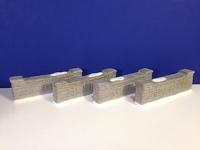Dept 56 Heritage Village UPTOWN WALL Set of 4 w/ box NEW! Combine Shipping!