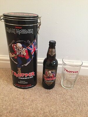 Iron Maiden Trooper Beer Tin Set 2017 Fathers Day