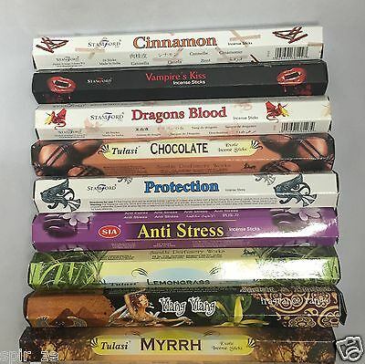 Mix Incense Sticks/cones Buy 03 Get 01 Free Plus A Holder