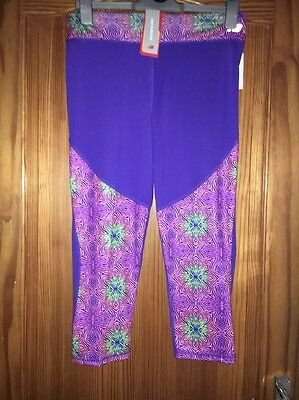 Girls New Balance Leggings New Tags Purple Age 16 Years Tight Leggings