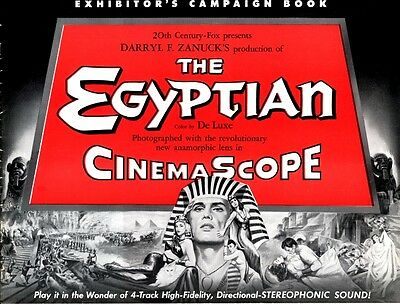 THE EGYPTIAN pressbook, Jean Simmons, Bella Darvi, Gene Tierney CINEMASCOPE