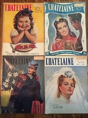 4 Vintage Chatelaine Magazines From January February April May 1941