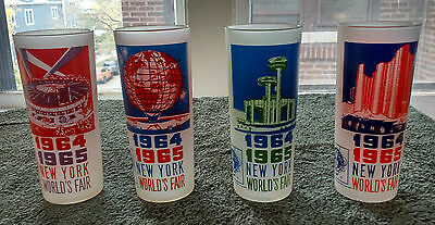 Vintage Antique 1964 1965 World's Fair Drinking Glass Set With Box New York