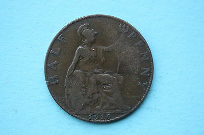 George V Halfpenny 1919 British 20th century coin