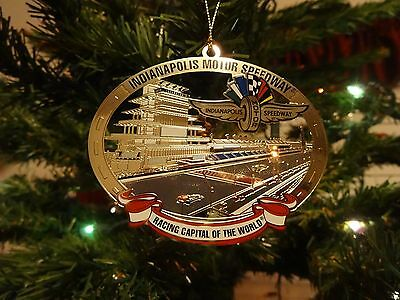 2017 Indianapolis Motor Speedway Celebrated Brass Collector Ornament Indy 500