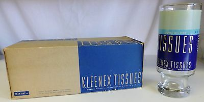 Vintage Kleenex Advertising Lot NOS 1938 Box and Drinking Glass USA RARE