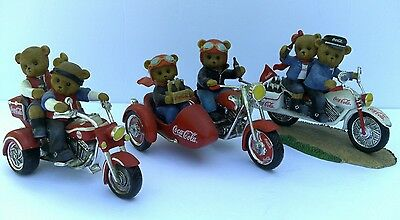 """Vintage """"On The Go With Coco Cola Collection"""" Collectible Bear Figurines"""