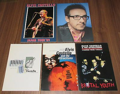 5 x SET! Elvis Costello JAPAN tour book JOB LOT others in stock THE ATTRACTIONS