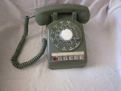 """Western Electric GREEN """"564"""" Six-Button Rotary Business Telephone"""