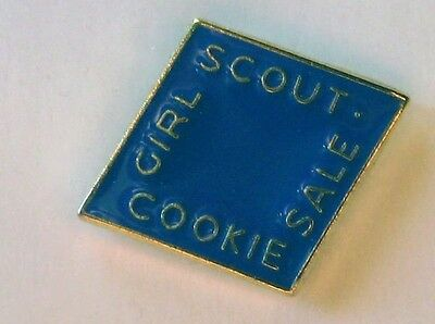 Girl Scout 2015 COOKIE SALE Electric Blue PIN Diamond  Brownie Junior Cadette