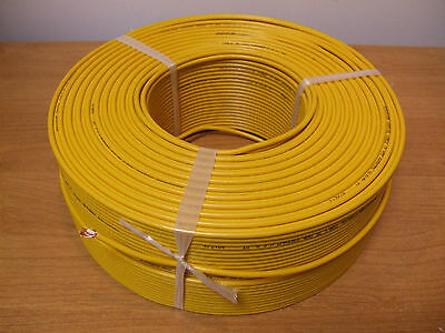 1000' Mini Coax Cable Coaxial Copper Wire Camera Video Miniature Yellow Thin