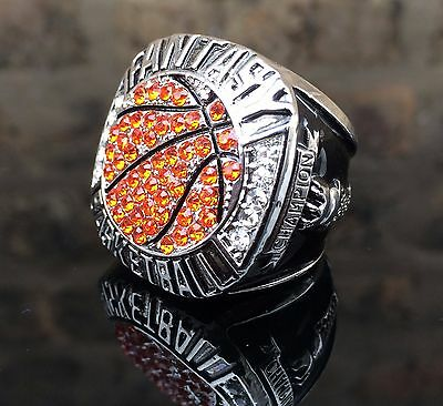 Fantasy Basketball Championship Ring Trophy March Madness Award Brackets sz 11
