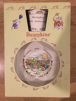 Royal Doulton Bunnykins Child China Traditional 60th Anniversary  Boxed Set 1996