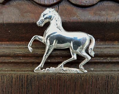 Sterling Silver Vintage Horse Equine Pin Brooch Angry Dressage Piaffe Passage