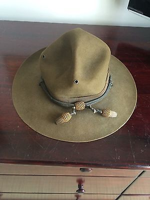 WWI, WWII military campaign hat, with bullion cords