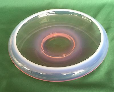 Fostoria Seascape Low Bowl Coral Sand Pink Opalescent Mid Century 1954-1958
