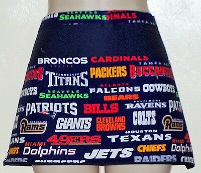 Black apron NFL ALL TEAMS  waitress server waiter waist apron 3 pockets