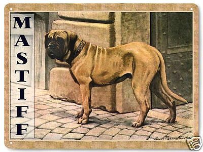Mastiff dog metal sign / pet store vintage style great gift wall decor art 315