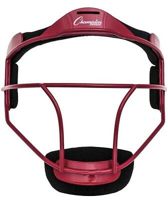 Champion Sports FMYRD Softball Youth Pitchers Fielders Face Mask Red