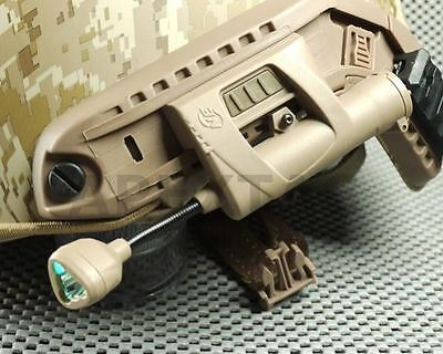 Night Evolution CHARGE MPLS LED Helmet Lighting System (Red Green White IR) TAN