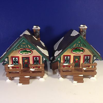 Dept 56 Snow Village FISHERMAN'S NOOK CABINS Set of 2 w/ box Combine Shipping!