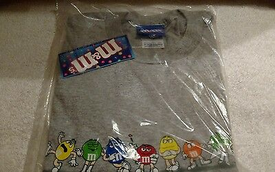 M&M's Characters T-Shirt Ash Grey Size Large