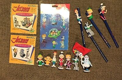 Vintage Jetsons Cartoon Stickers, Pencils, Figurines - Collectibles