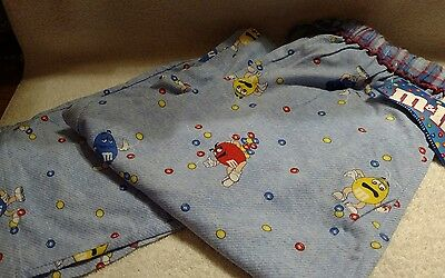 M&M's Light Blue Lounge Pants With Characters Size Small