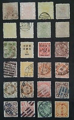 1878-1948 Classic China Collection, Large&Small Dragon, Red Revenue, 194 Stamps.