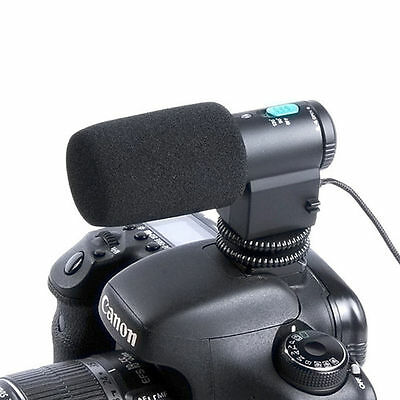 MIC-109 Mini External Stereo Microphone for Nikon Canon DSLR Camera DV Camcorder