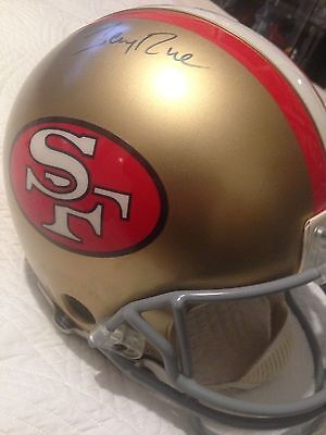 JERRY RICE SAN FRANCISCO 49ers AUTOGRAPHED FULL SIZE HELMET