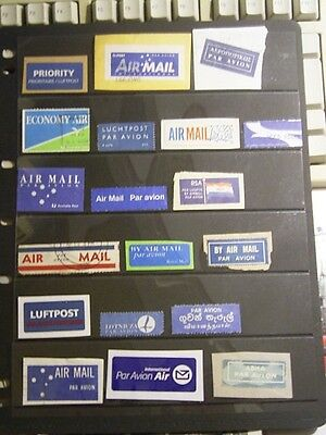 World Airmail Labels