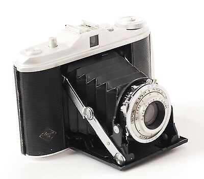 Agfa Isolette Folding 120  Film Camera With Apotar 85mm f4.5 Lens (0945)