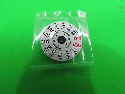 Genuine Seiko 7S26 ==  4R36  Day Wheel Disk  White   Free Postage
