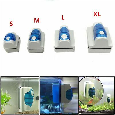 Durable Double Surface Magnetic Aquarium Fish Tank Glass Cleaner Scraper VO