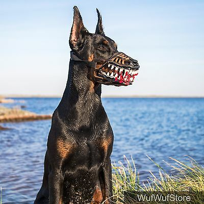 WEREWOLF MUZZLE,Creepy,Scary,ZOMBIE MUZZLE for dogs,DOBERMAN,funny dog accessory