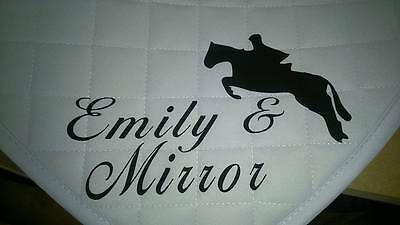 Personalised Rhinegold Cotton Quilted Saddlecloth / Jumping Pony/horse