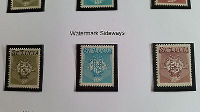 St.lucia 1973 Sg 349B-351B Coil Stamps Mnh
