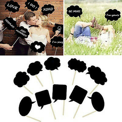 DIY Photo Booth Prop Bubble Speech Chalk Board Wedding Party Photobooth 10X