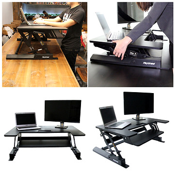 Adjustable Workstation Riser Stand Up Standing Desk Computer Monitor Laptop PC