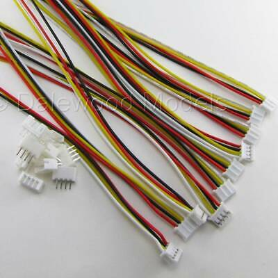5 Sets JST PH 2.0mm 4 Pin Male-Female Connector Plug Wires Cables 150mm